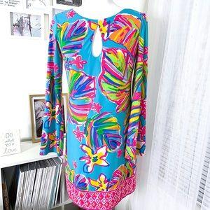 Lilly Pulitzer Fairfield Long Sleeve Tunic Dress S